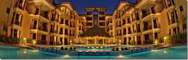 Bahia Encantada night pool
