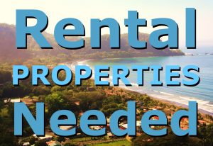 Jaco Costa Rica Rental Properties needed